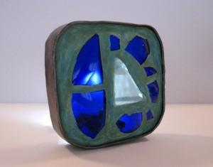 Lichtobjekt blau